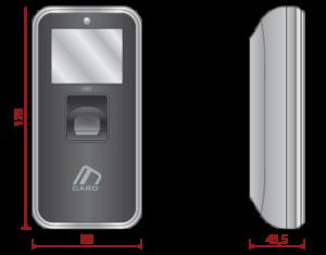 Terminal Biométrico AC-5000 Plus medidas 2